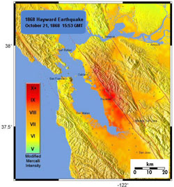 Archive: M6.8 October 21, 1868 Hayward Fault Earthquake