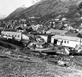 Photo of earthquake damage