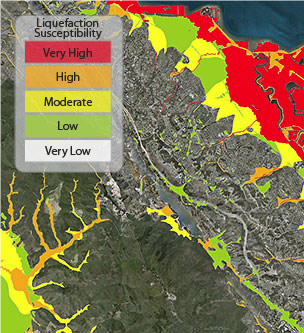 Liquefaction Susceptibility According to the map, communities in contra costa county included antioch and concord to pittsburg and bay point. liquefaction susceptibility