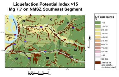 Liquefaction Potential Maps For Memphis Shelby County